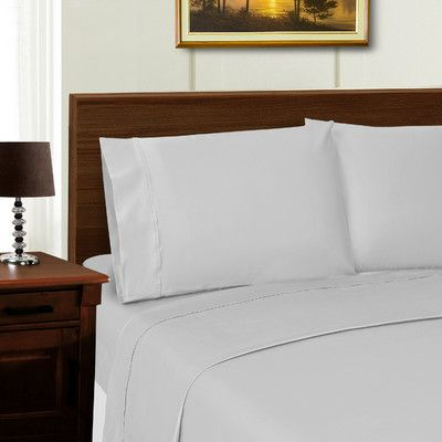 Simple Luxury Superior 1000 Thread Count Sheet Set Color: Gray, Size: California King