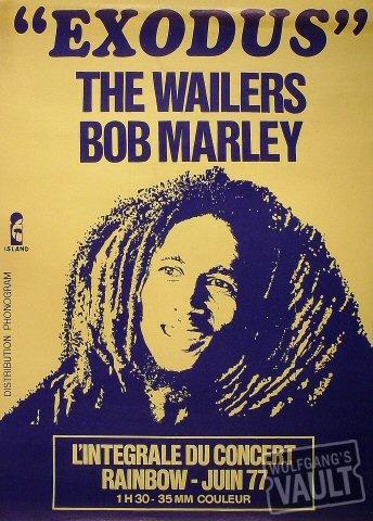 Bob Marley concert poster.