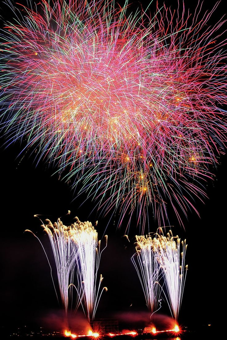 Fireworks at Anjin Festival in Shizuoka, Japan