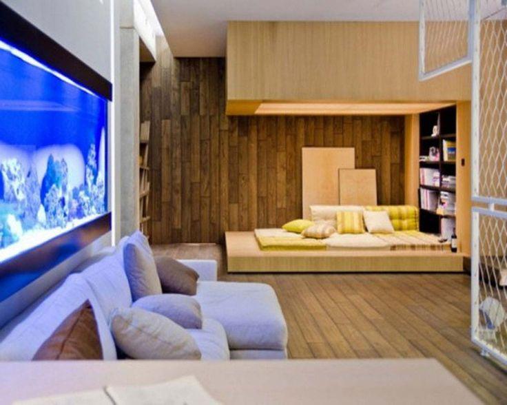 Aquarium Decoration Ideas For Bedroom ~ http://www.lookmyhomes.com/creative-aquarium-decoration-ideas/