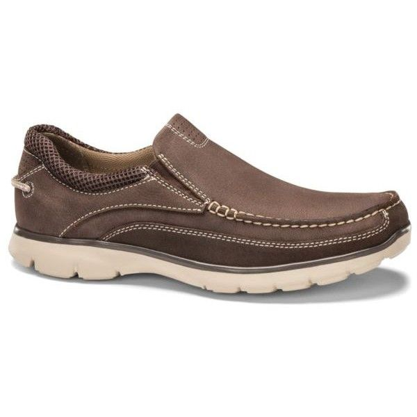 Dockers Brown Walsh Boat Shoe ($60) ❤ liked on Polyvore featuring men's fashion, men's shoes, men's loafers, brown, sperry top sider mens shoes, mens brown shoes, mens brown boat shoes, mens deck shoes and dockers mens shoes
