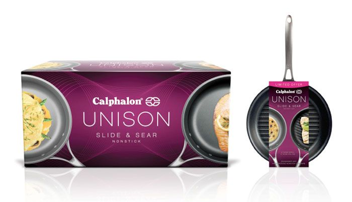 Kaleidoscope created a name and positioning that combined culinary achievement with dual technology, as well as sleek structural packaging design for the product. Unison is currently launched as Calphalon's new flagship offering and is set to re-establish the brand as a category leader in cookware innovation.