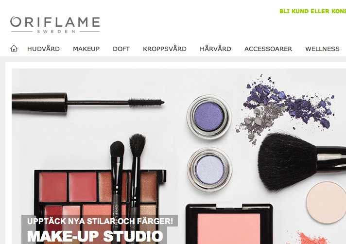2010-2011, Stockholm, Sweden. Communication for Oriflame Cosmetics; managed retail, events, education of sales staff and as a head makeup artist.