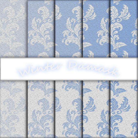 Sandstone Winter Damask by edesigndotcom on Etsy, €3.40