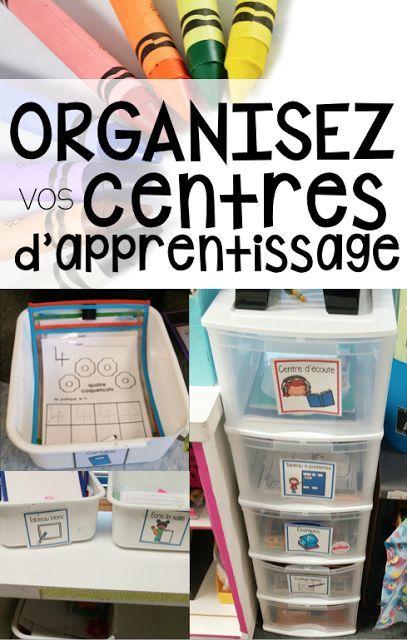 Plusieurs idées pour bien organiser vos centres d'apprentissage au primaire - Maternelle avec Mme Andrea