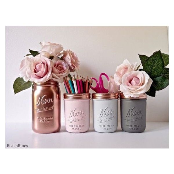 Pink Copper Gold Mint Cream ❤ liked on Polyvore featuring home, home decor, lidded jars, gold home accessories, colored jars, copper home accessories and alabaster jar