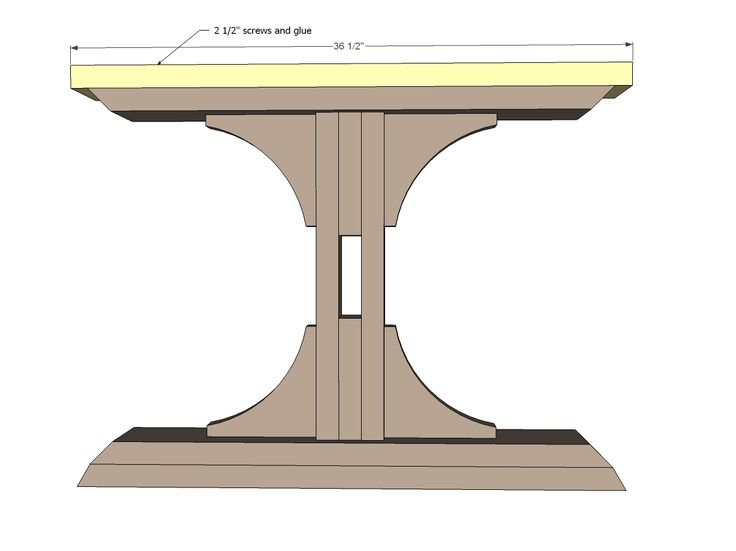 Free pedestal dining table plans woodworking projects for Dining table plans woodworking free