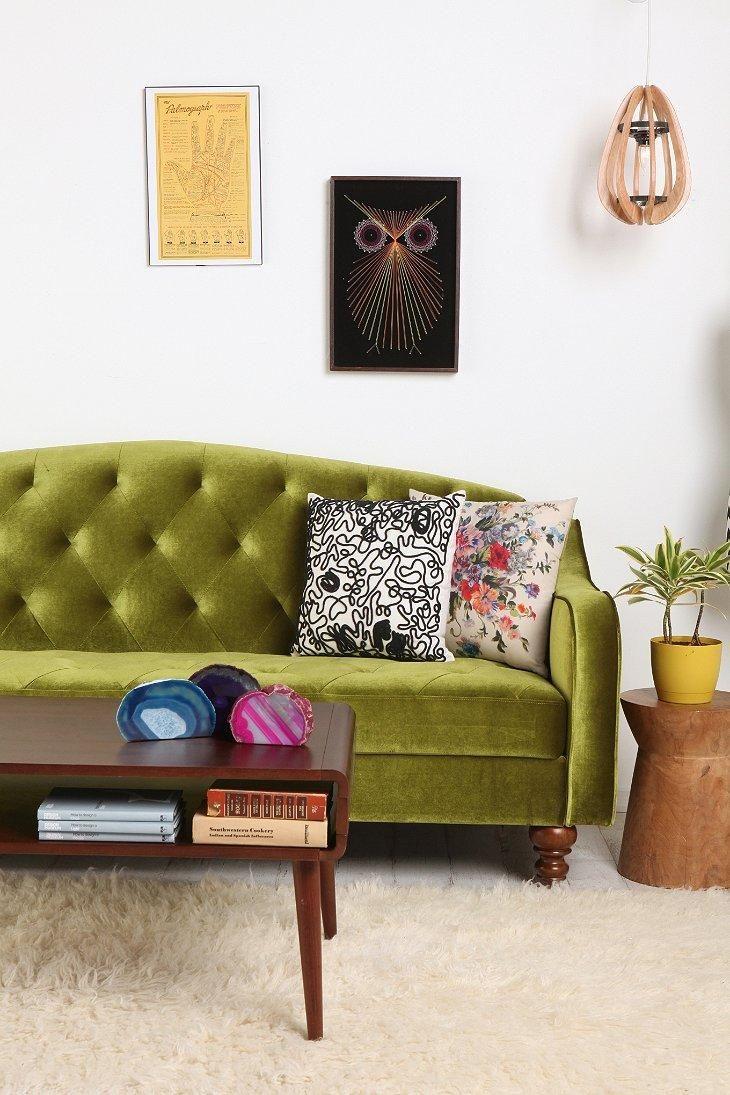 Ava Velvet Tufted Sleeper Sofa #urbanoutfitters