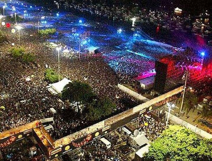 Show de Rod Stewart, no Rio de Janeiro, em 1994: 3,5 milhões de pessoas