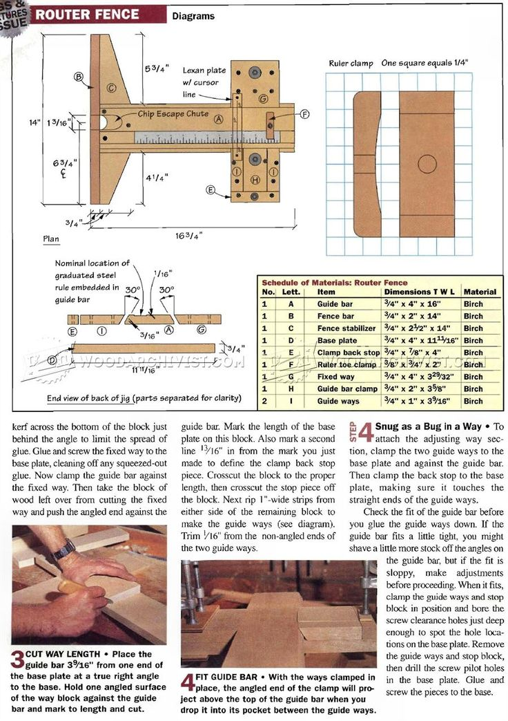 Precision Router Table Fence Plans - Router