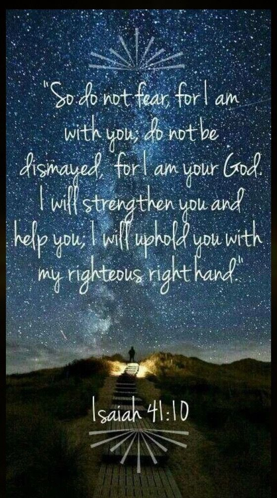 This is the scripture that comes to mind whenever I am afraid. This year has some scary changes ahead so this will be my go to verse to remind me that God is right there with me holding my hand.