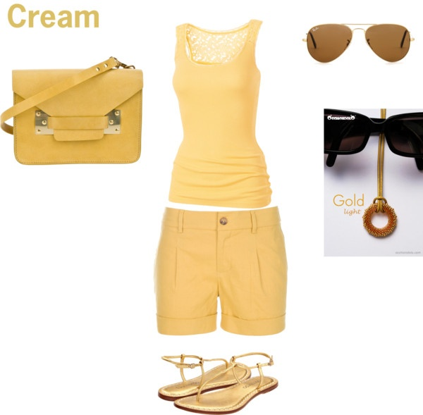 """""""Hot day in the city: cream"""" by occhiondolo on Polyvore"""
