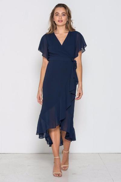 Fresh Soul - Valentina Wrap Dress- Navy