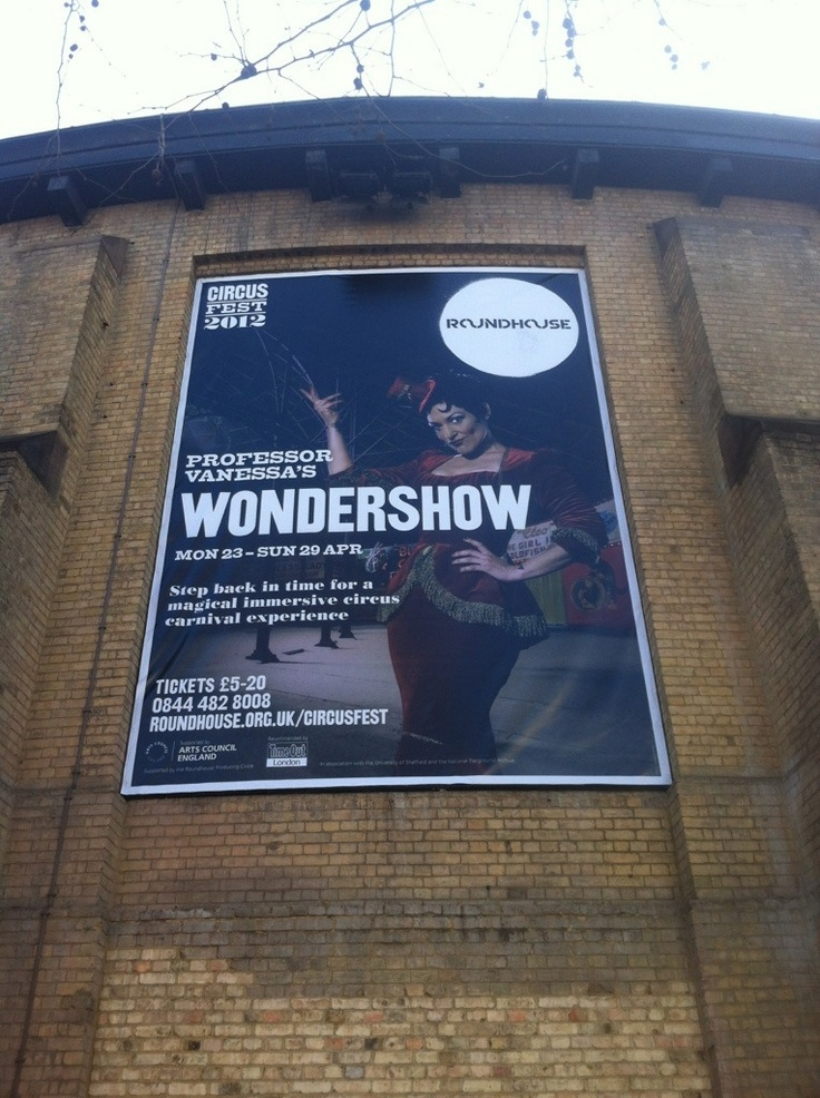 poster girl at londons roundhouse. chuffed