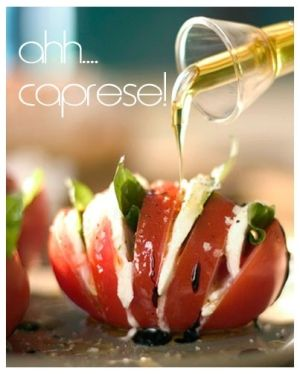 Italian food~Tomato with Mozzarella and Basil