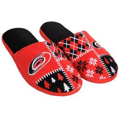 Men's Carolina Hurricanes Ugly Sweater Slippers