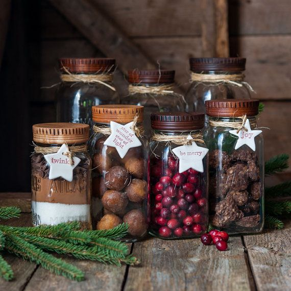 Wood Mason Jar Lids 2 Kitchen Gifts Wood Top by CattailsWoodwork