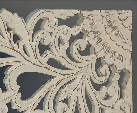 85 mejores im genes sobre madera tallada en pinterest - Cabeceros de madera blanco ...