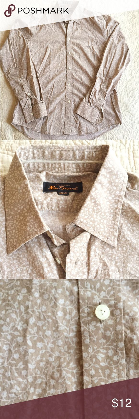 Ben Sherman Long Sleeve Button Up Shirt 100% Cotton. Only worn a couple of times....like new condition. Ben Sherman Shirts Casual Button Down Shirts