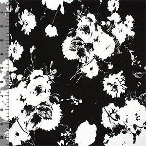 Exposed Photo Floral Cotton Spandex Knit Fabric