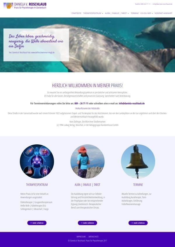 Layout Website, mit CMS (Wordpress) Praxis für Physiotherapie (zum Teil noch in Arbeit d. Kunden) - © wildpeppermint-design.de created with pinthemall.net