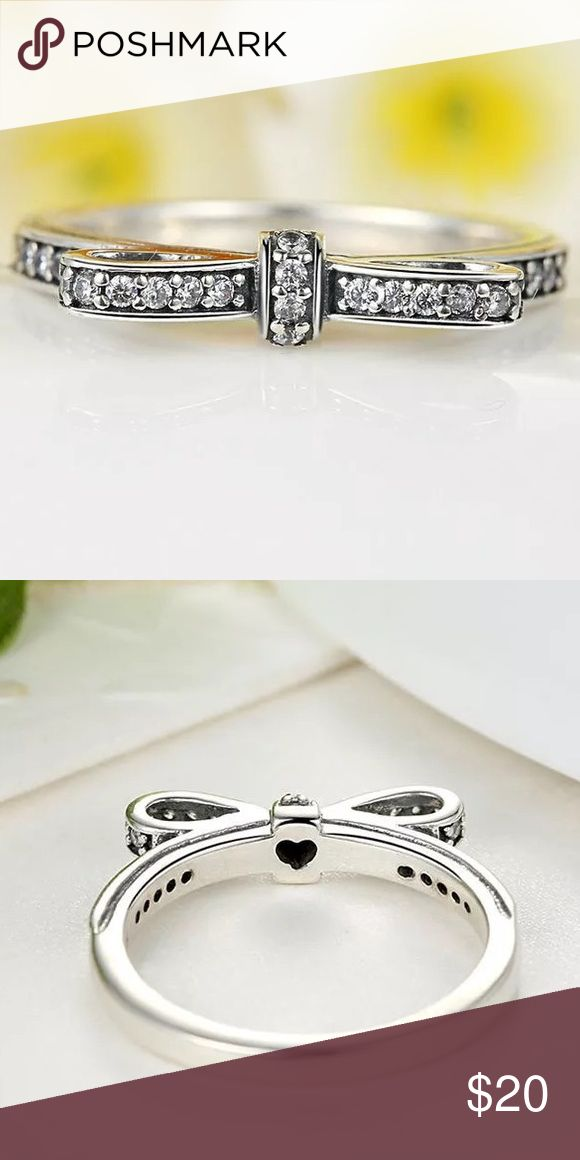 A New Sterling Silver Bow Tie Ring A New Sterling Silver Bow tie Ring Jewelry Rings