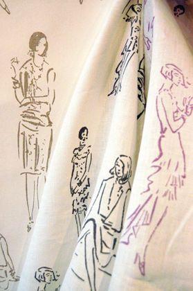 Cecil BEATON 1929 Linen and Wallpaper