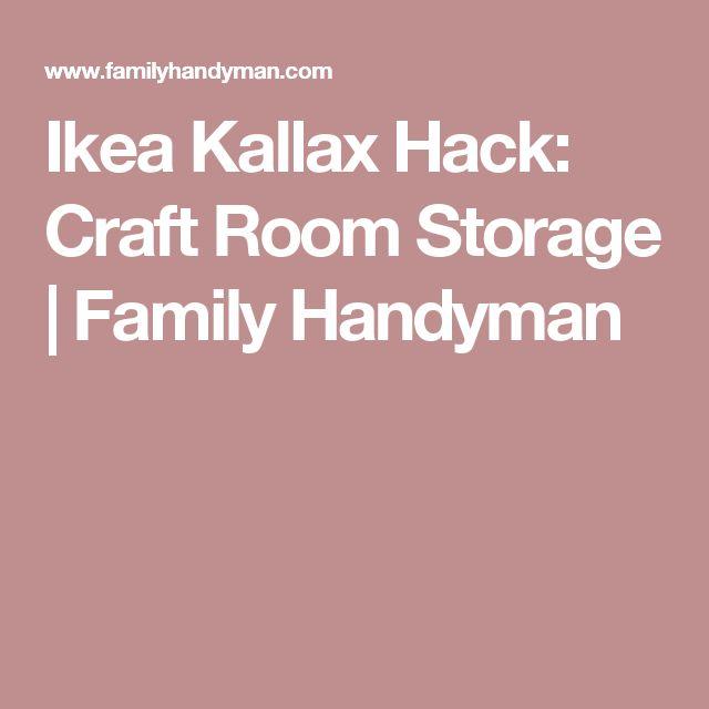 Ikea Kallax Hack: Craft Room Storage | Family Handyman