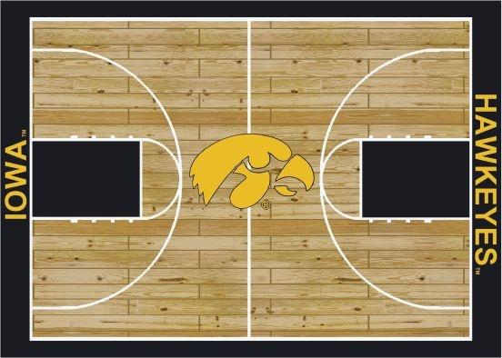 Iowa Hawkeyes Basketball Court Rug (All Sizes)
