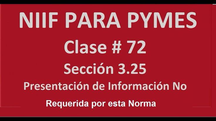 781. Información No Requerida por esta Norma. Sección 3.25. NIIFF para P...