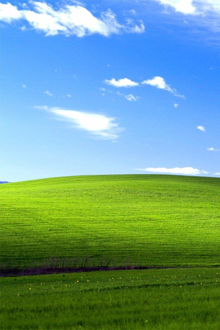 Remember That Classic Windows Wallpaper? Here's What It Actually Looks Like | Anyone who used a Windows computer remembers the iconic default wallpaper on XP: a hill with the greenest of grass, and a rich blue sky with a few clouds. In case you didn't know, it's a real place — and a Reddit user recently visited the area and took a photo of what it looks like today.