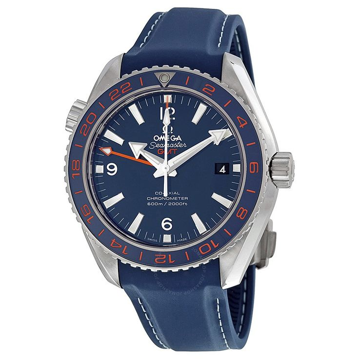 $5k...Omega Seamaster Planet Ocean GMT Blue Dial Men's Watch 23232442203001 - Seamaster Planet Ocean - Omega - Watches - Jomashop