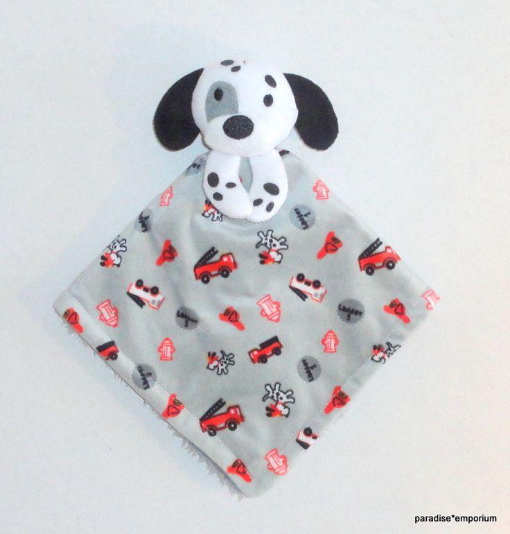 Little Beginnings Dalmatian Puppy Baby Security Blanket Gray Firetrucks Grey P64 #babyblankets #babystuff #thingsforbabies