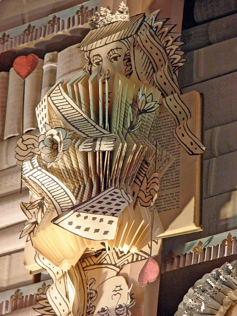 Alice--Bergdorf Goodman's 2009 Holiday Windows-Alice in Wonderland by finsbry on flickr- detail of book art
