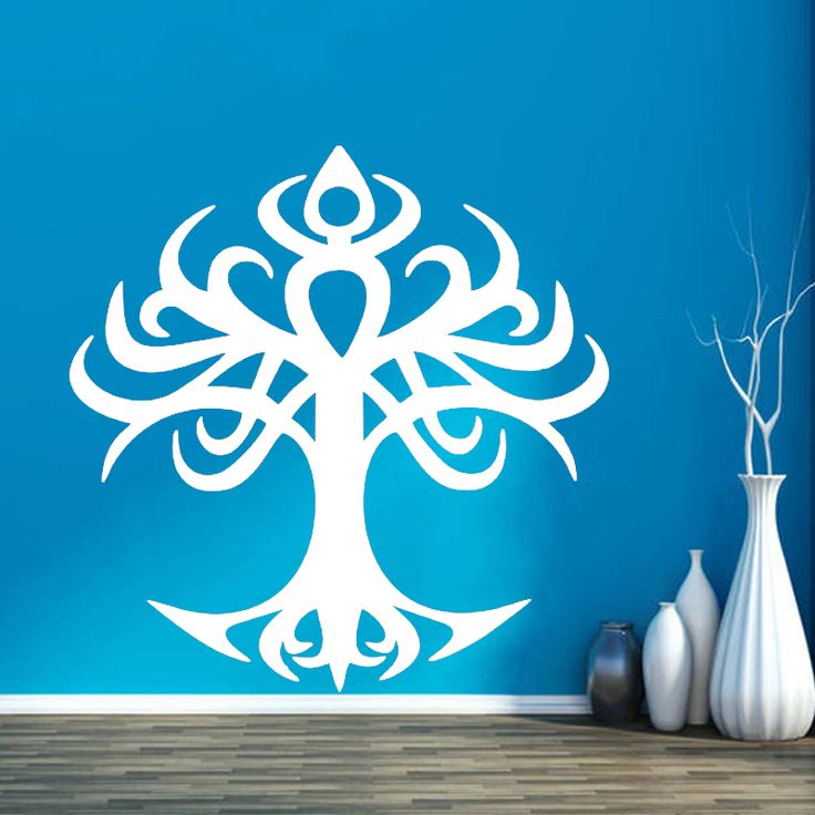 Find More Wall Stickers Information about Wall Room Decor Art Vinyl Sticker Mural Decal Tree Of Life Tattoo Tribal ,High Quality tree of life,China tree of life tattoo Suppliers, Cheap sticker mural from Naughty Dog Wall Decals Shop Store on Aliexpress.com