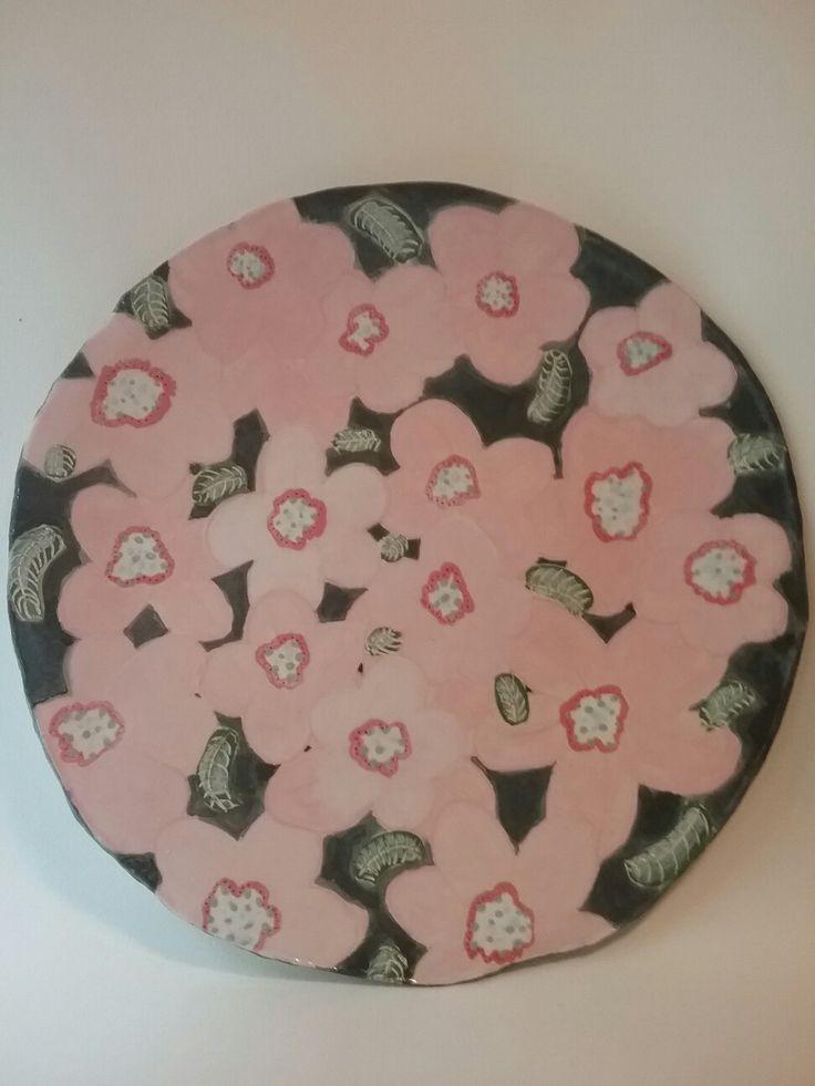 14 inch handpainted plate