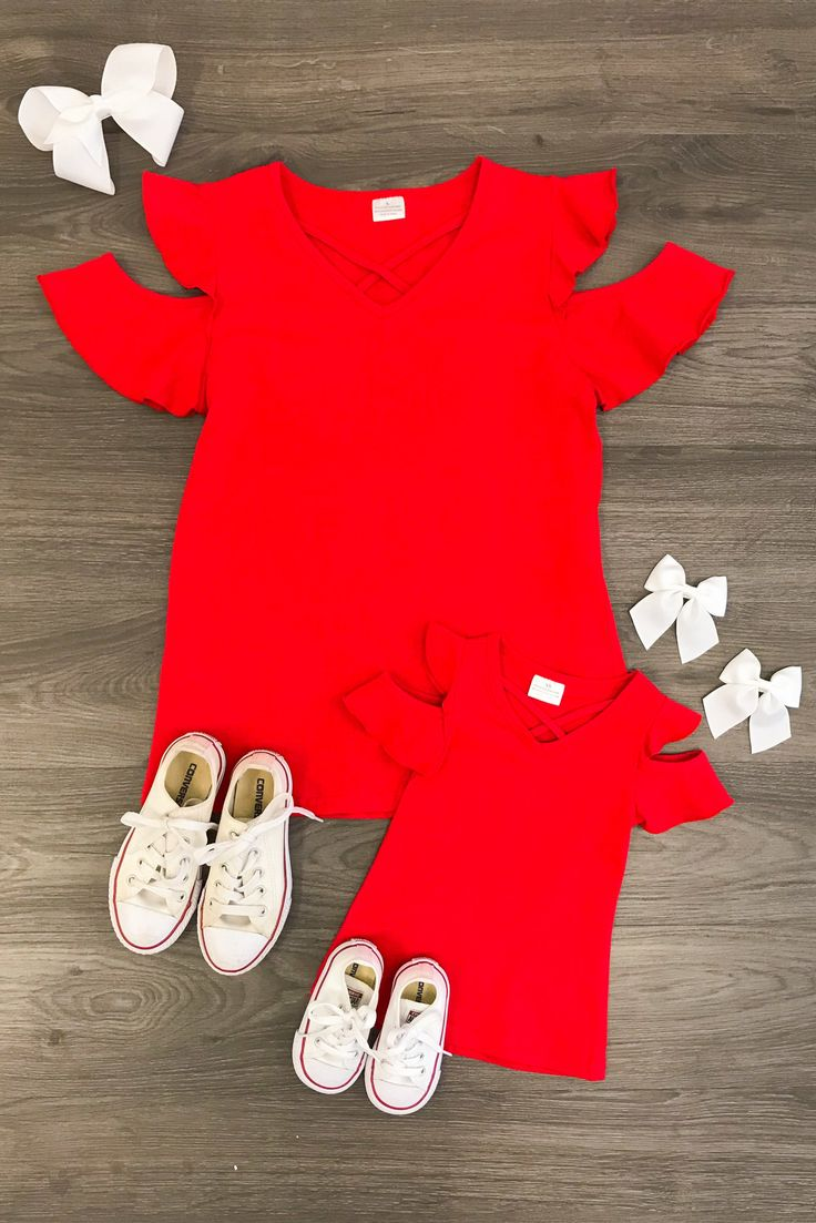 2409 Best Baby Images On Pinterest Little Girls Babies Clothes Mom N Bab Short Tee Pink Lace Hem Mommy Me Red Open Shoulder Shirts