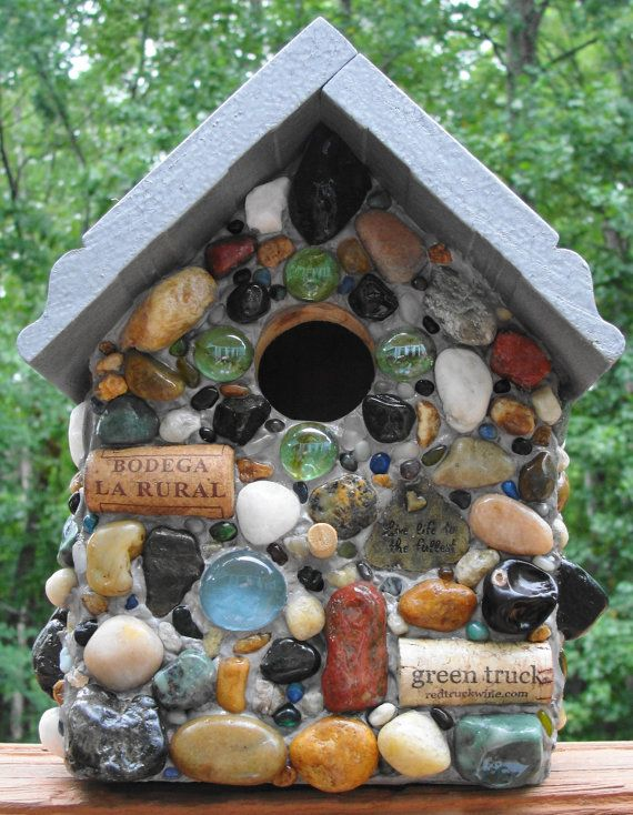 Country Farm Inspired Mixed MediaNatural Stone by JaCoBirdhouses