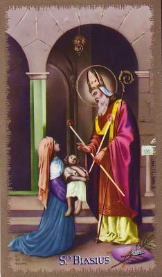 Saint Blaise - feastday Feb. 2nd (I thought I pinned this that day)