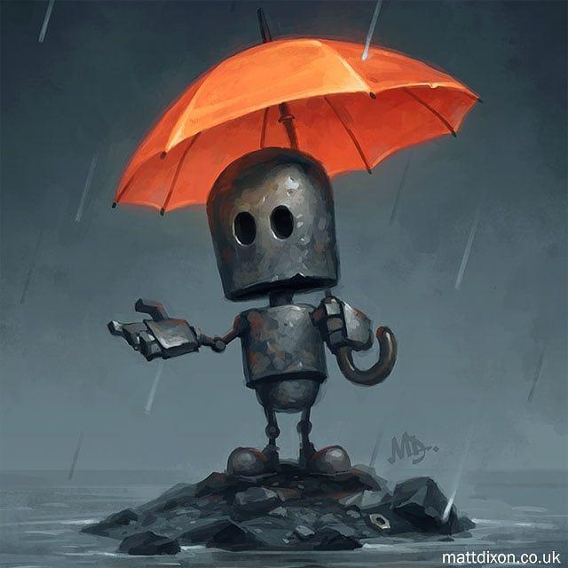 'The Rainy Season' from my new book of robot art, …