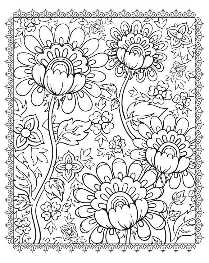To print this free coloring page «coloring-magnificient-flowers», click on the printer icon at the right