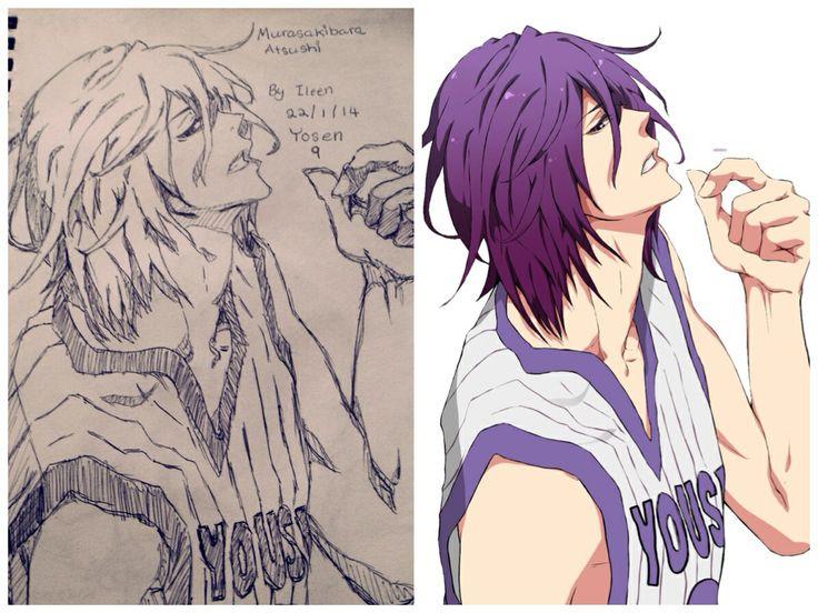Copy pen sketch, murasakibara atsushi from kuroko's basketball.