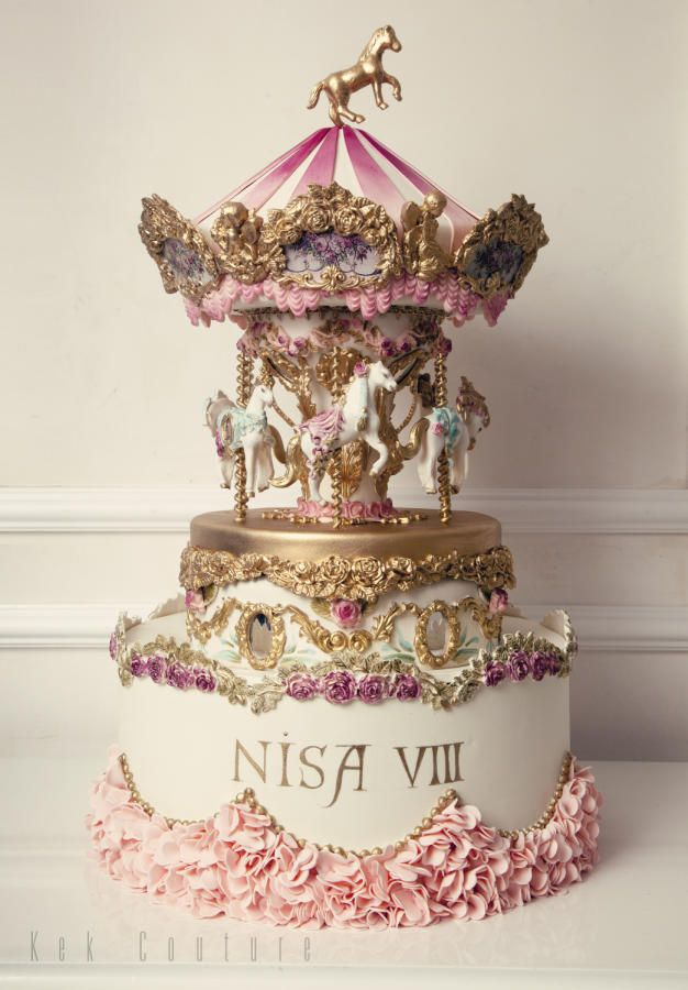 Carousel Cake - http://cakesdecor.com/cakes/241736-carousel-cake