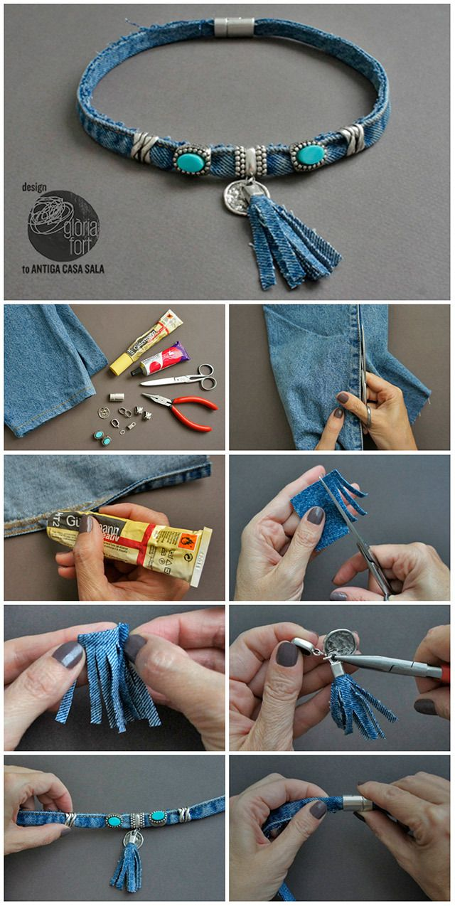 58 best make it with denim images on pinterest | crafts, chain