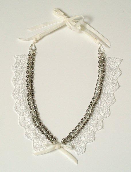 #DIY #Bib necklace: Anthropology Inspiration, Bibs Tops, Tops 10, Lace Bibs, Tops Inspiration, Inspiration Projects, Chains Lace, Necklaces Lace, Bibs Necklaces
