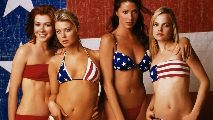 American pie cast in bikinis