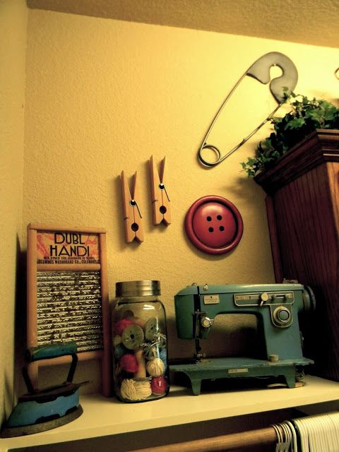 Little Bit of Paint: Vintage Inspired Laundry Room