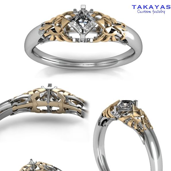 Attention princesses of Hyrule, I believe this Legend of Zelda-themed wedding ring is yours