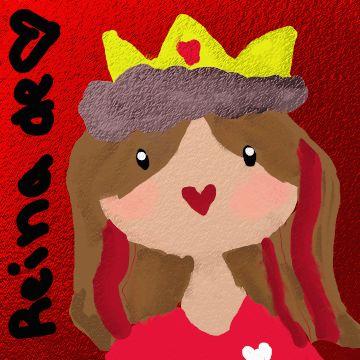 Reina de corazones. Claro se supone que es mala pero aqui se ve muy feliz y pacifista. #Pug5AbiDrawing