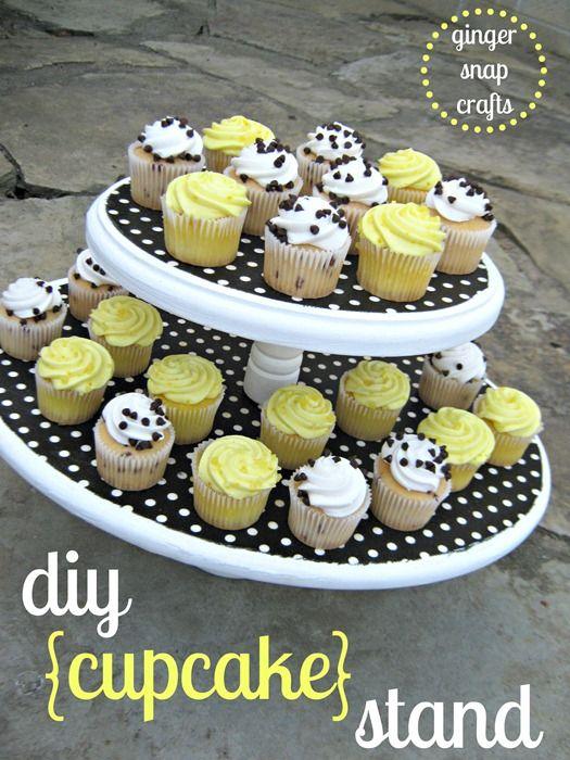 DIY Cupcake Stand {tutorial}